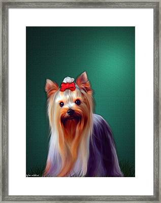 Framed Print featuring the painting Fifi by Tyler Robbins