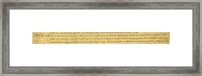 Fifth Amendment, 1789 Framed Print