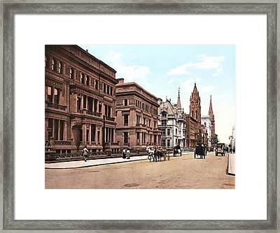 Fifth Avenue At Fifty First Street New York 1900 Framed Print