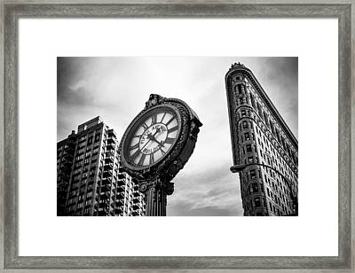 Fifth Avenue Building Clock Framed Print