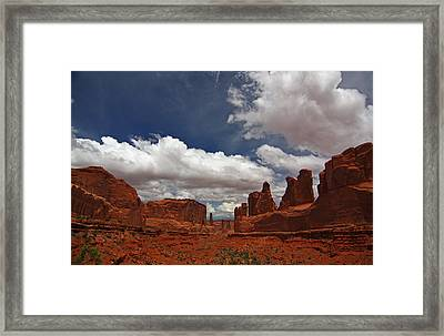 Fifth Avenue In Arches National Park Framed Print