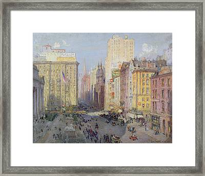 Fifth Avenue, New York, 1913 Oil On Canvas Framed Print by Colin Campbell Cooper