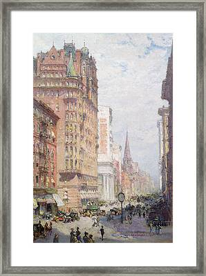 Fifth Avenue New York City 1906 Framed Print by Colin Campbell Cooper