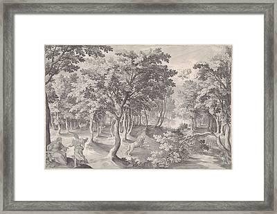 Fifth Vision Of Ezra, Nicolaes De Bruyn Framed Print