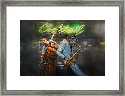 Fifties Cocktail Jazz Framed Print by Joachim G Pinkawa