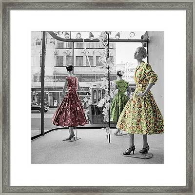 Fifties Fashion Framed Print by Andrew Fare