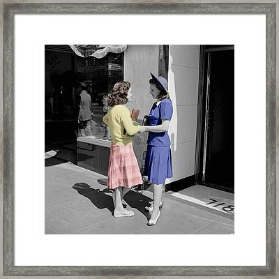 Fifties Girls Framed Print
