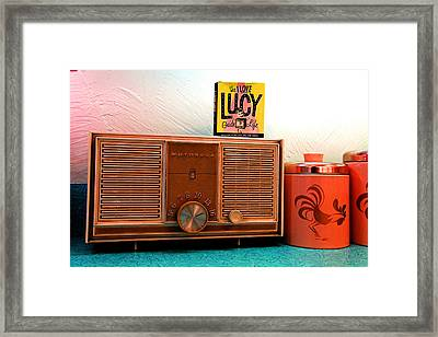 Fifties Radio Framed Print