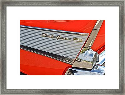 Fifty Seven Chevy Bel Air Framed Print by Frozen in Time Fine Art Photography