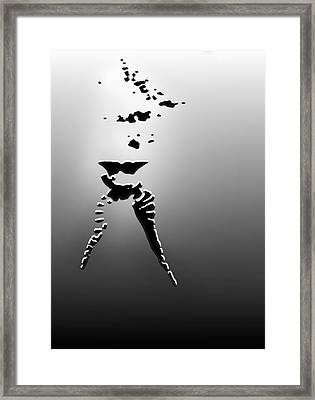 Fifty Shades Of Grey Rising Up Framed Print by Ronel Broderick