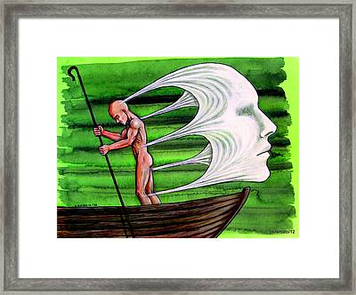 Fight Against The Current Framed Print