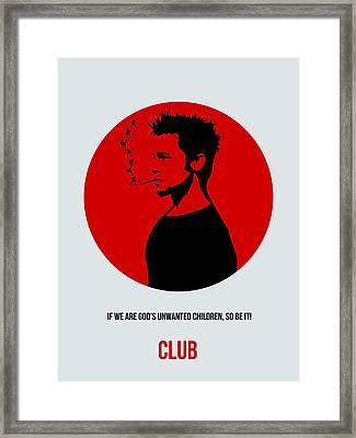 Fight Club Poster 2 Framed Print by Naxart Studio