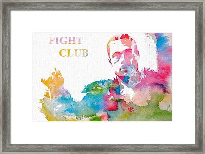 Fight Club Watercolor Poster Framed Print by Dan Sproul