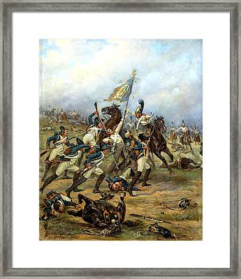 Fight For The Banner Framed Print by Victor Mazurovsky