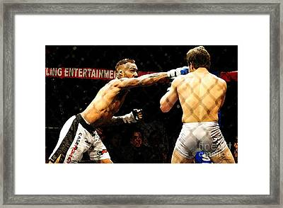 Fight Night No. 19 Framed Print by Shawn Lyte