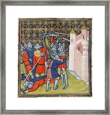 Fight Outside Meaux Framed Print by British Library