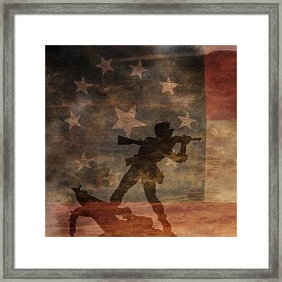 Fight To The Death Silhouette Three Of Three Framed Print