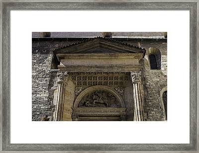 Fight With The Dragon. Framed Print