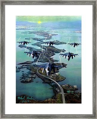 Fighter Jet Squadron  Framed Print by Michael Rucker