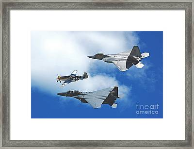 Fighter Jets Old And New Framed Print