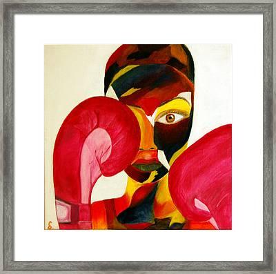 Fighter Framed Print by Onana Malik-Silverio