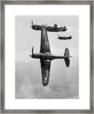 Fighter Pilot Training, 1943 Framed Print by Science Photo Library