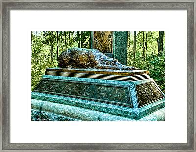 Fighting 69th Irish Brigade Gettysburg Battleground Framed Print by Bob and Nadine Johnston
