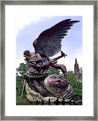 Fighting Angel Framed Print by Terry Reynoldson