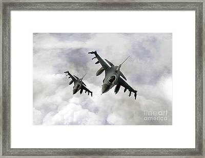 Fighting Falcons Framed Print by J Biggadike