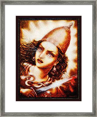 Fighting Goddess 2 Framed Print by Ananda Vdovic