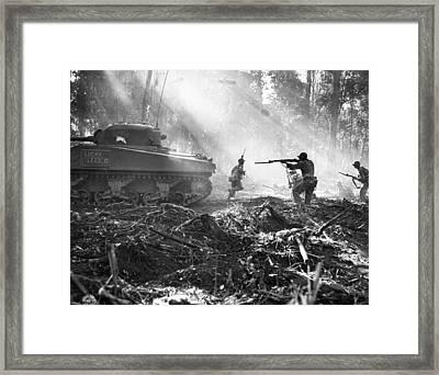 Fighting On Bougainville Framed Print