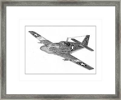 Fighting P 51 Framed Print