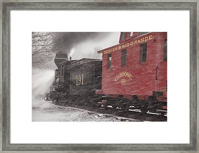 Fighting Through The Winter Storm Framed Print