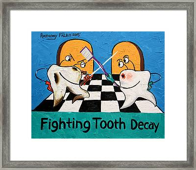 Fighting Tooth Decay Framed Print by Anthony Falbo