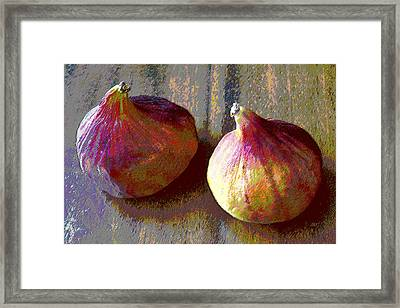 Figs Still Life Pop Art Framed Print by Ben and Raisa Gertsberg