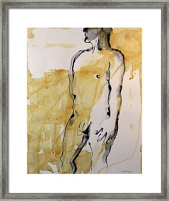 Figure 12 Male Nude Study Framed Print by Craig  Bruce