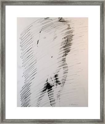 Figure 13 Male Nude Study Framed Print by Craig  Bruce