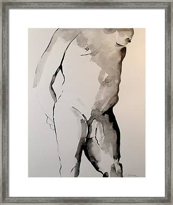 Figure 7 Male Nude Framed Print by Craig  Bruce