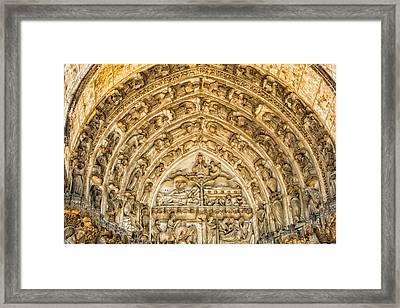 Gothic Archivolt At Chartres Framed Print