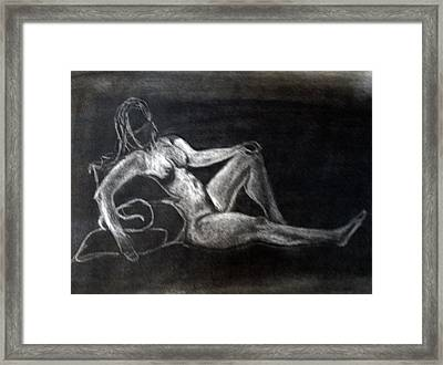 Figure Drawing Framed Print by Corina Bishop