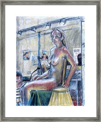 Figure Drawing- Primary Colors  Framed Print