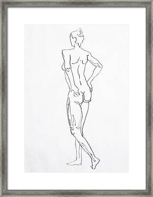 Figure Drawing Study I  Framed Print by Irina Sztukowski