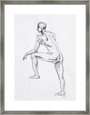 Figure Drawing Study II Framed Print by Irina Sztukowski