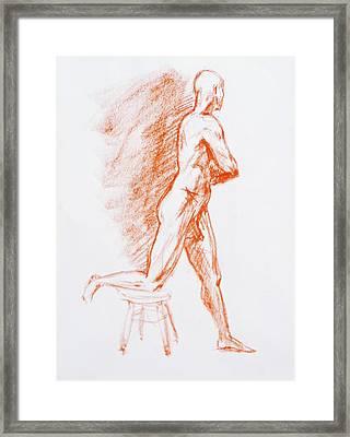 Figure Drawing Study IIi Framed Print by Irina Sztukowski