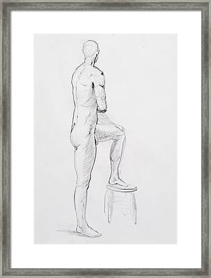 Figure Drawing Study Iv Framed Print