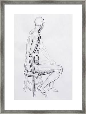 Figure Drawing Study V Framed Print by Irina Sztukowski