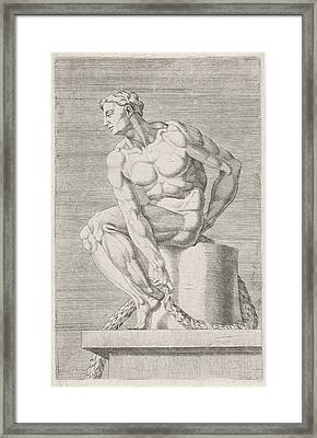 Figure From The Sistine Chapel, Rome Italy Framed Print by Dirck Volckertsz Coornhert