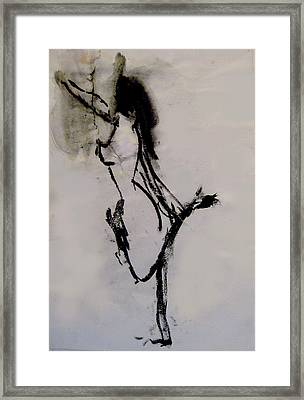 Figure In Motion Framed Print by James Gallagher
