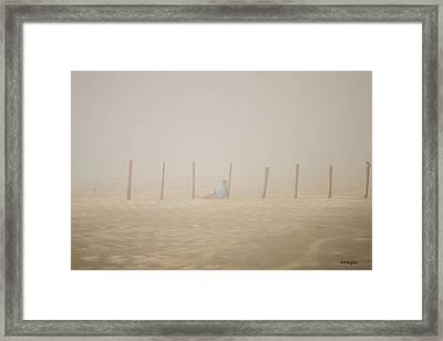 Figure In The Fog Framed Print