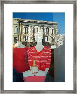 Figure In Window By Jan Marvin Framed Print